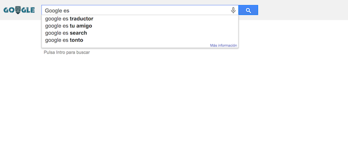 Preguntando a Google qué coño es