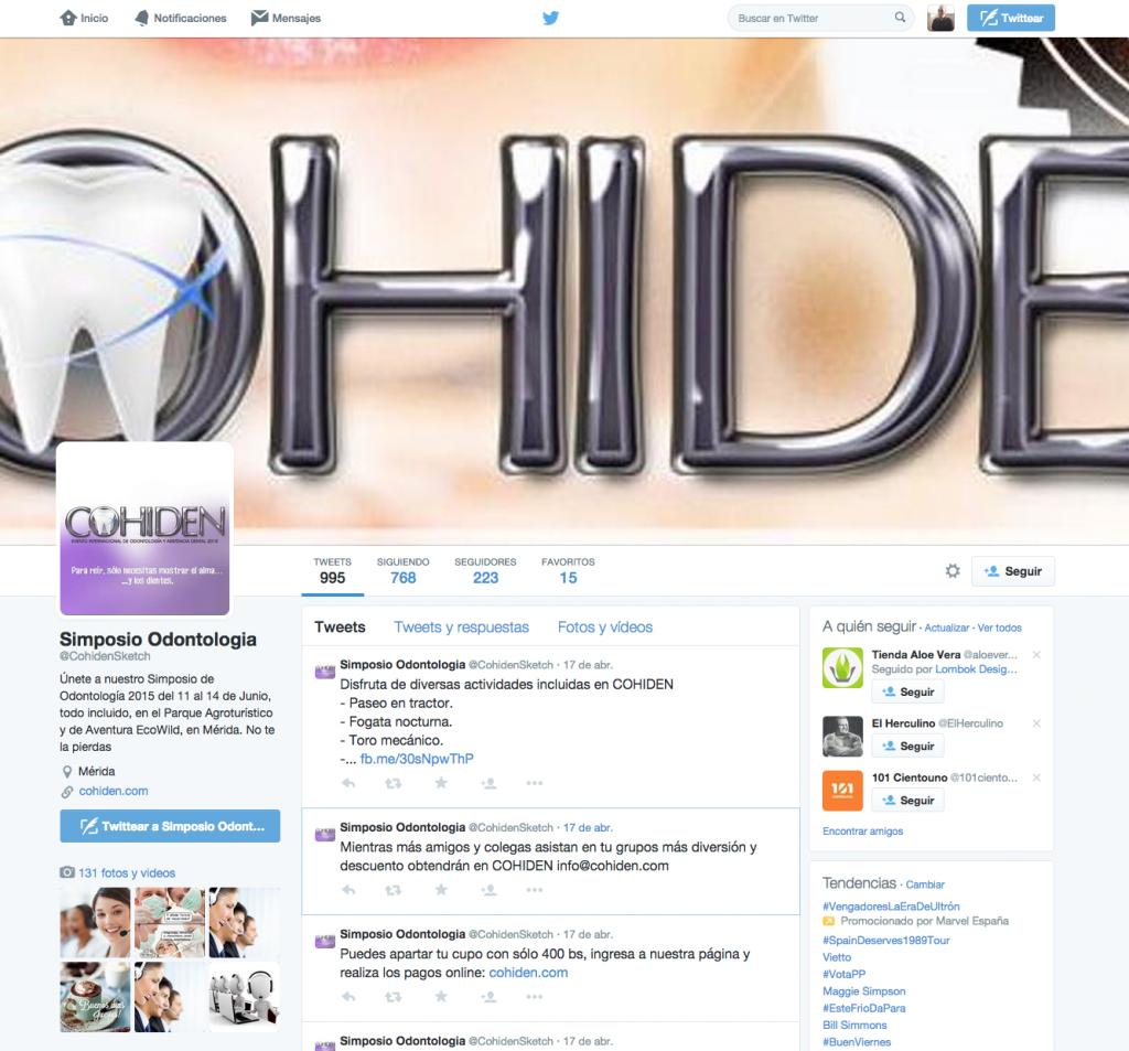 Twitter de Cohiden