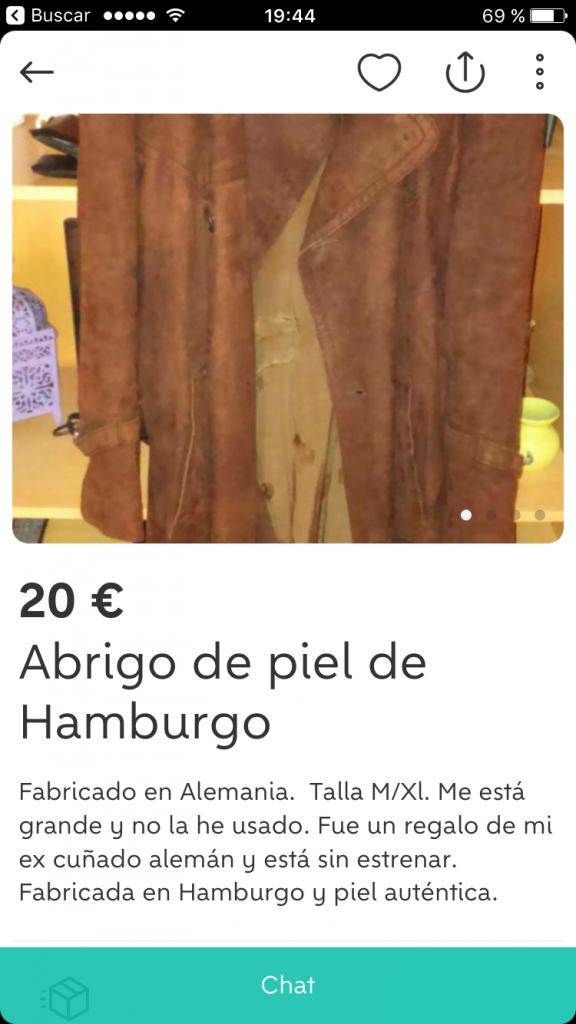 Abrigo de piel de hamburgo