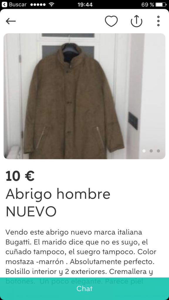 El abrigo que nunca estuvo allí