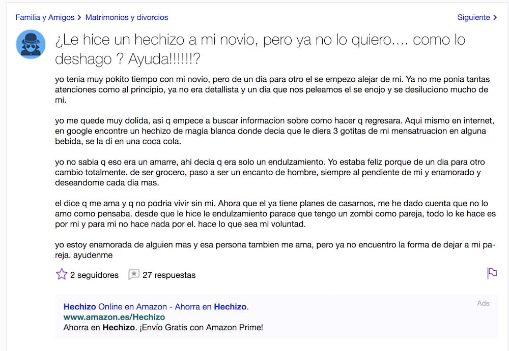 Yahoo preguntas: El novio encoñado