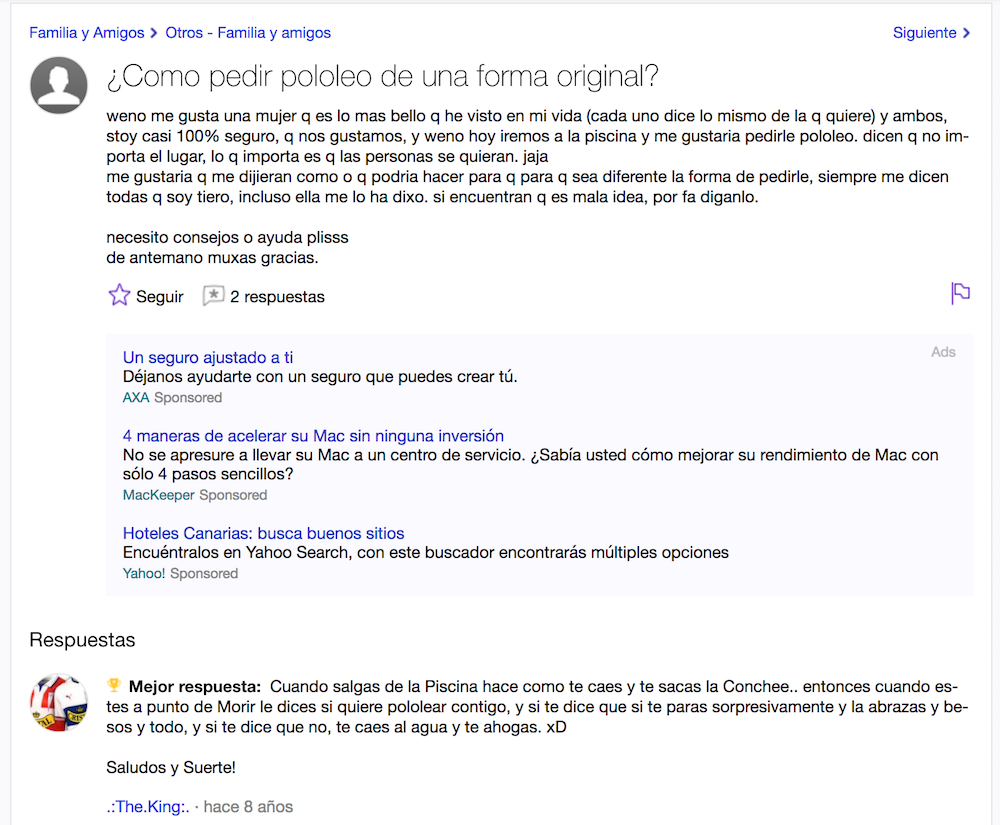 Yahoo Preguntas - Pololeo Original